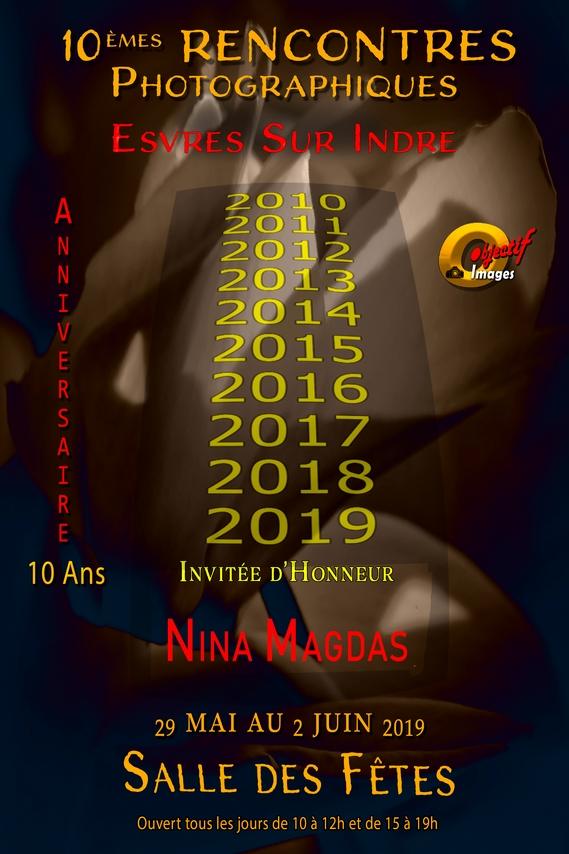 Affiche 10emes Rencontres Photographiques Esvres sur Indre